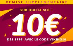 10€ de remise sur tout le site avec le code VIKING10