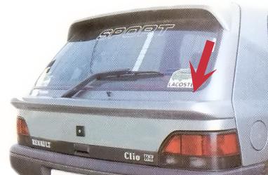 Becquet inférieur pour Renault Clio 1