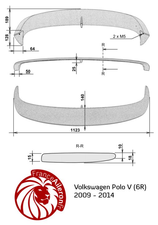 Becquet pour VW Polo V