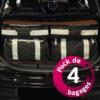 Audi A1 (8X) (de 2010 à Aujourd'hui) – Pack de 4 sacs de voyage sur-mesure