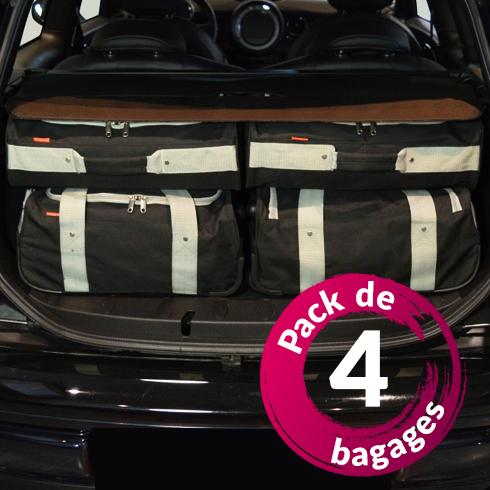 Fiat 500 (de 2007 à Aujourd'hui) - Pack de 4 sacs de voyage sur-mesure