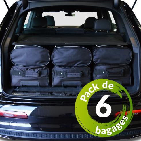 Fiat 500X (de 2015 à Aujourd'hui) - Pack de 6 sacs de voyage sur-mesure