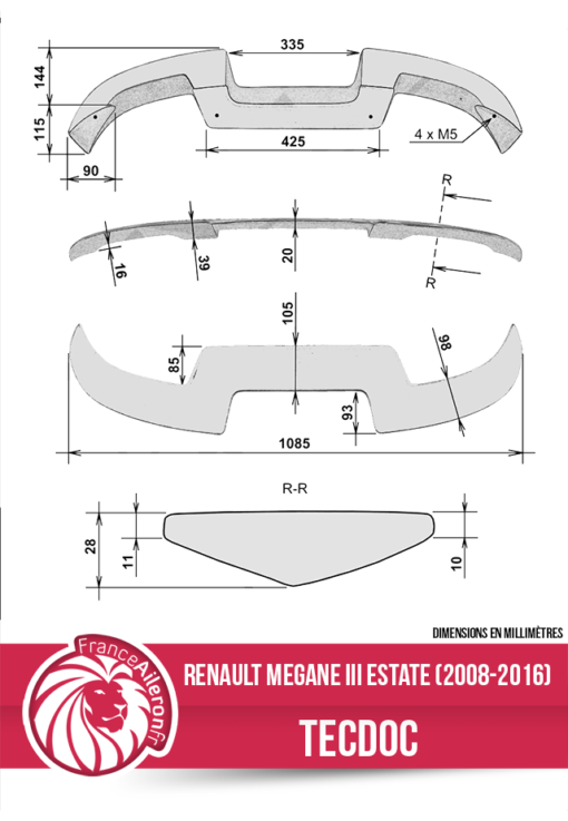 Aileron pour Renault Megane 2 break