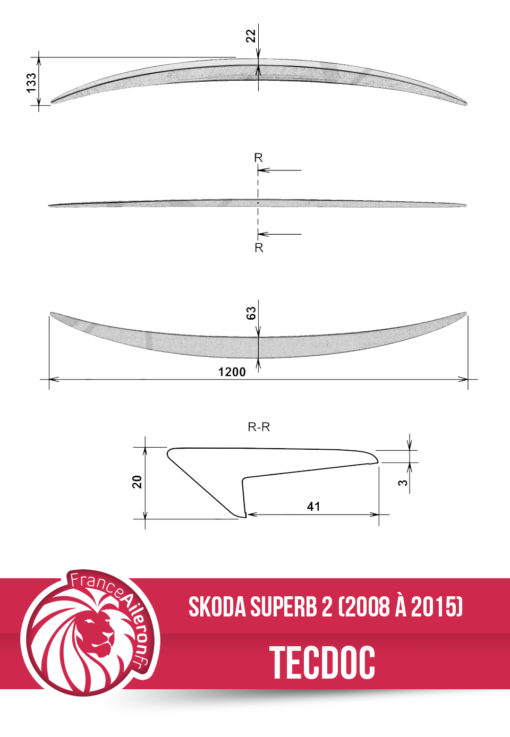 Becquet pour Skoda Superb 2
