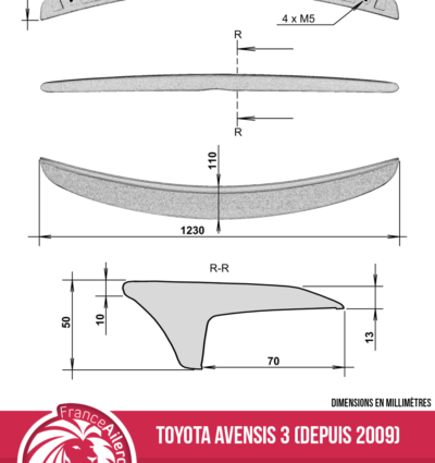 Becquet pour Toyota Avensis 3