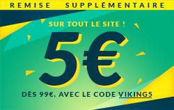 5€ de remise sur tout le site avec le code VIKING5